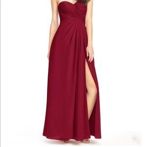 Azazie Burgundy Size 2 Bridesmaid Dress